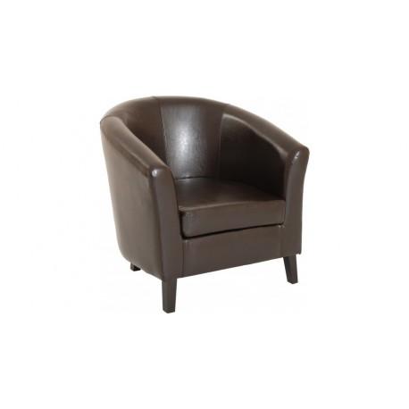 fauteuil couleur chocolat en cuir. Black Bedroom Furniture Sets. Home Design Ideas