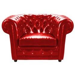 Location fauteuil chesterfield cuir rouge Location de meubles