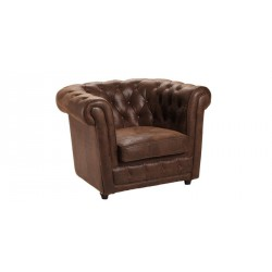 Location fauteuil style vintage marron chesterfield 1 place