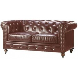 Location canapé style cuir vieilli 2 places