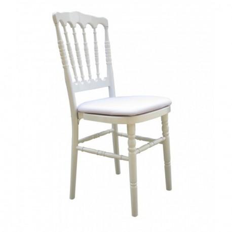 Location chaise napoléon blanche empilable