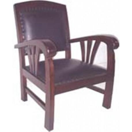 Location de fauteuil style colonial - Fauteuil teck et cuir ...