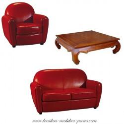Location ensemble club rouge + tables basse
