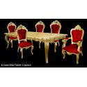 Location fauteuil de style en velours rouge et bois doré Carved avec accoudoirs