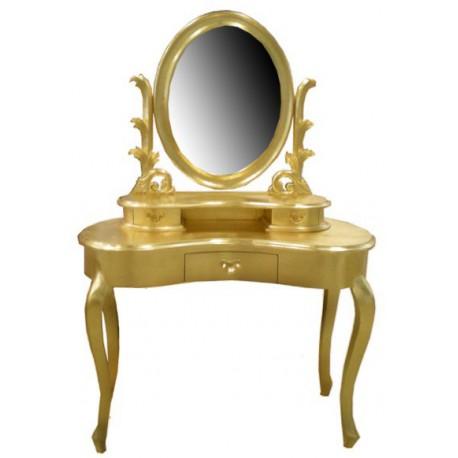 location Coiffeuse meuble en bois doré modèle Queen Anne