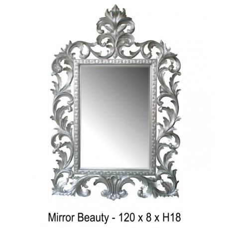 Location Miroir En Bois Argente Beauty