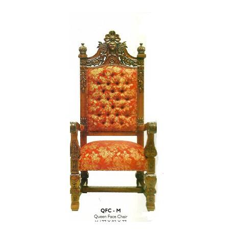 Location fauteuil style acajou H 109 cm