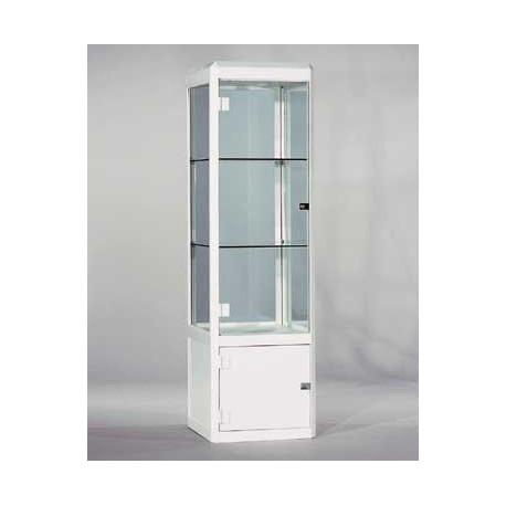 Location vitrine en verre trempé H 165 cm