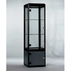 Location vitrine noire en verre trempé H 185 cm