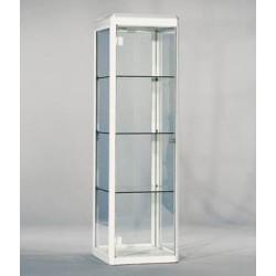 Vitrine à louer en verre et contour blanc H 180 cm