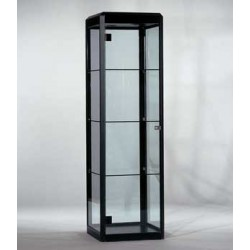 Location vitrine noire et verre H 180 cm