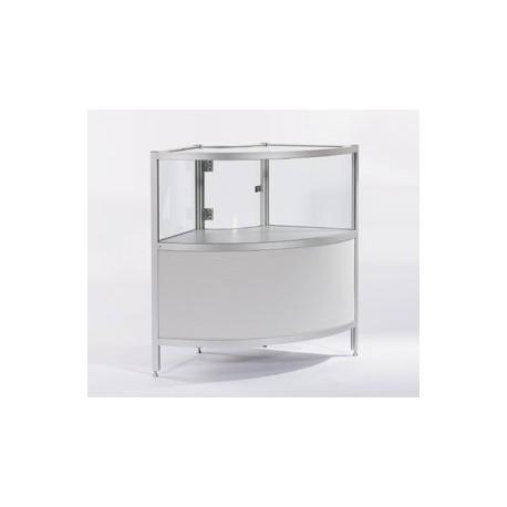 Location vitrine d'angle gris et en verre H