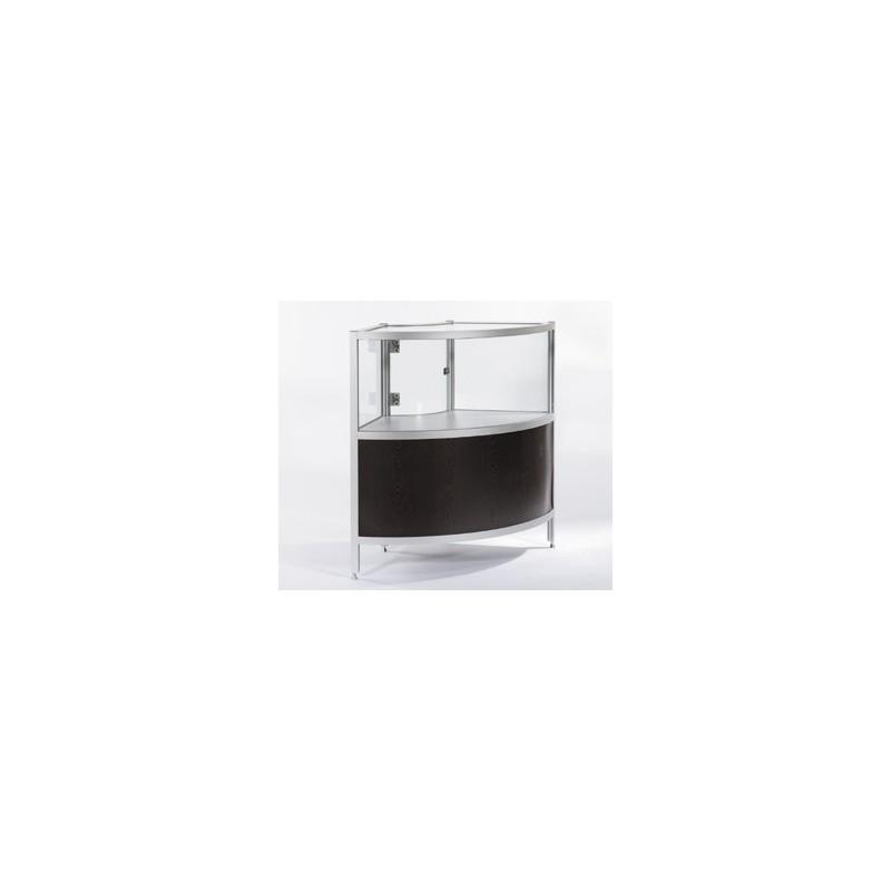louer vitrine d 39 exposition en angle. Black Bedroom Furniture Sets. Home Design Ideas