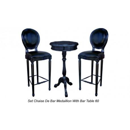 chaise de bar en velours noir style m daillon. Black Bedroom Furniture Sets. Home Design Ideas