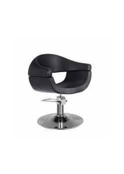 Location fauteuil coiffeur en simili cuir noir pour salon - Location de fauteuil en salon de coiffure ...