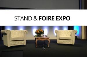 Nos références location mobilier stand et foire expo