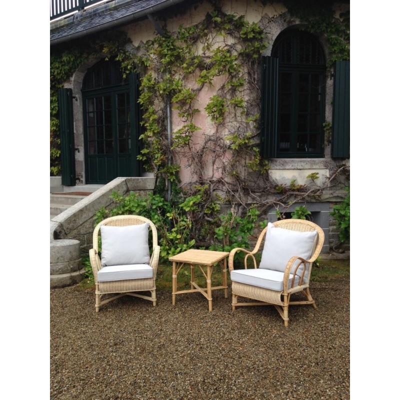rental rattan wedding furnitures in Paris France